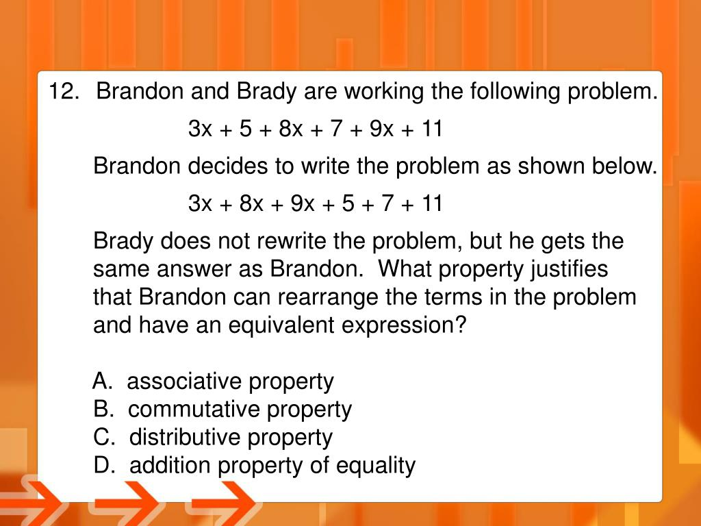Brandon and Brady are working the following problem.