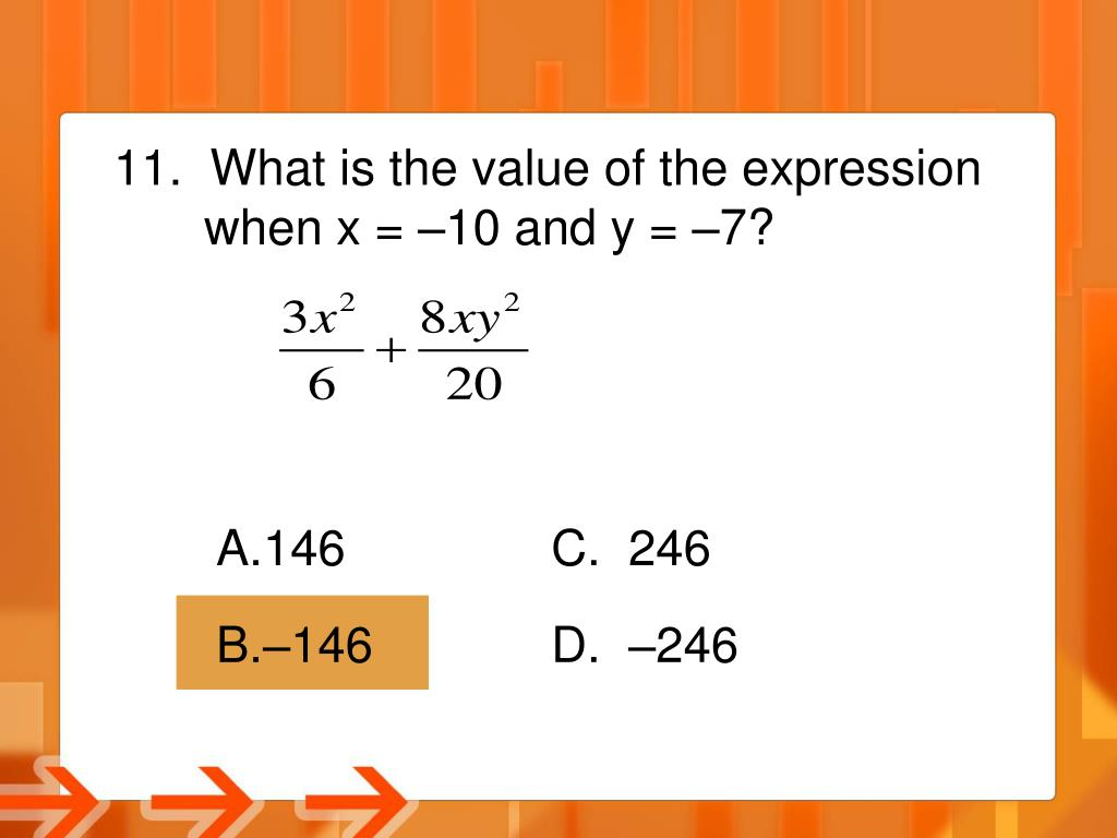 What is the value of the expression