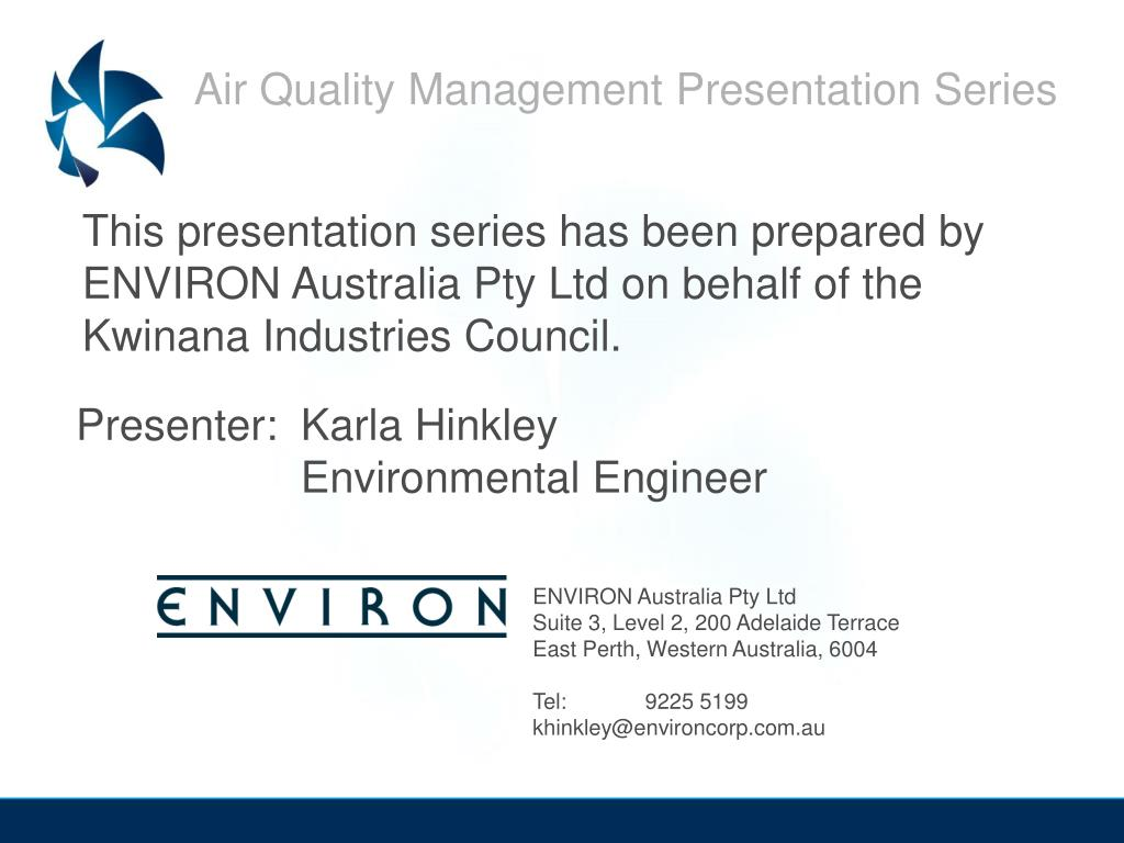 Air Quality Management Presentation Series
