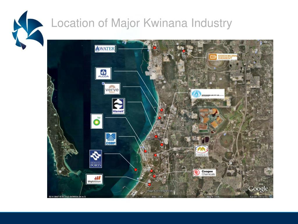 Location of Major Kwinana Industry