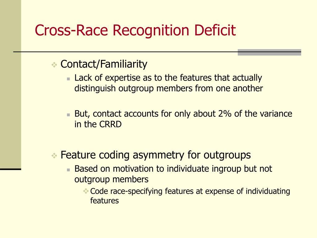 Cross-Race Recognition Deficit