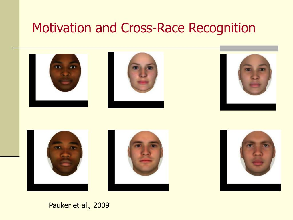 Motivation and Cross-Race Recognition