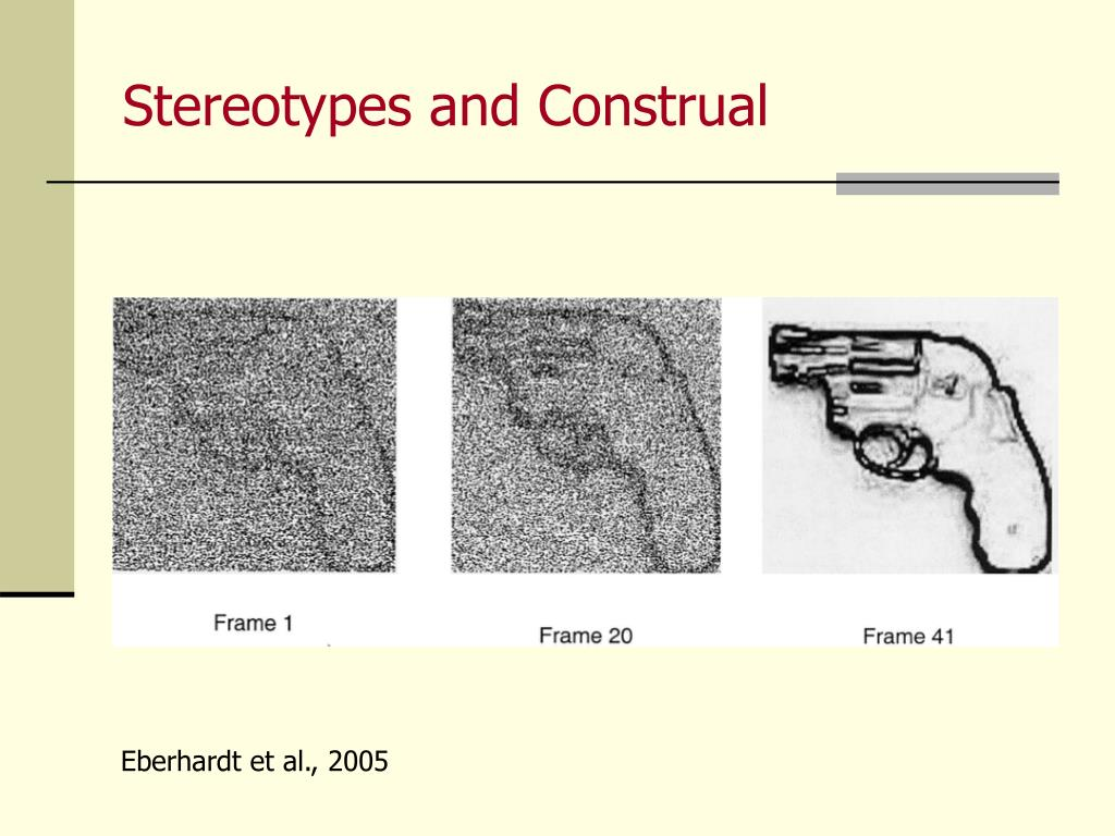 Stereotypes and Construal
