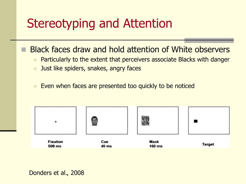 Stereotyping and Attention
