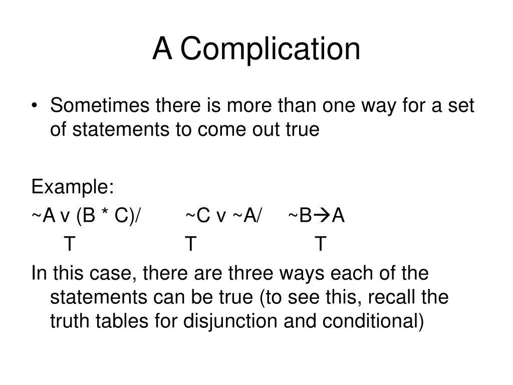 A Complication
