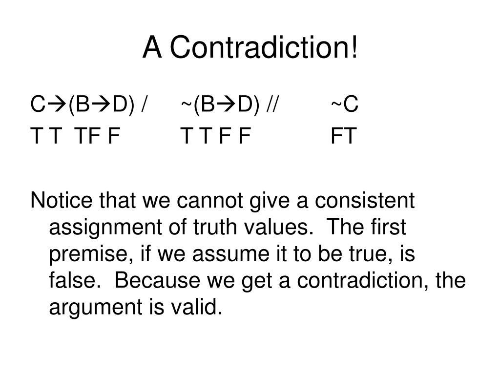 A Contradiction!