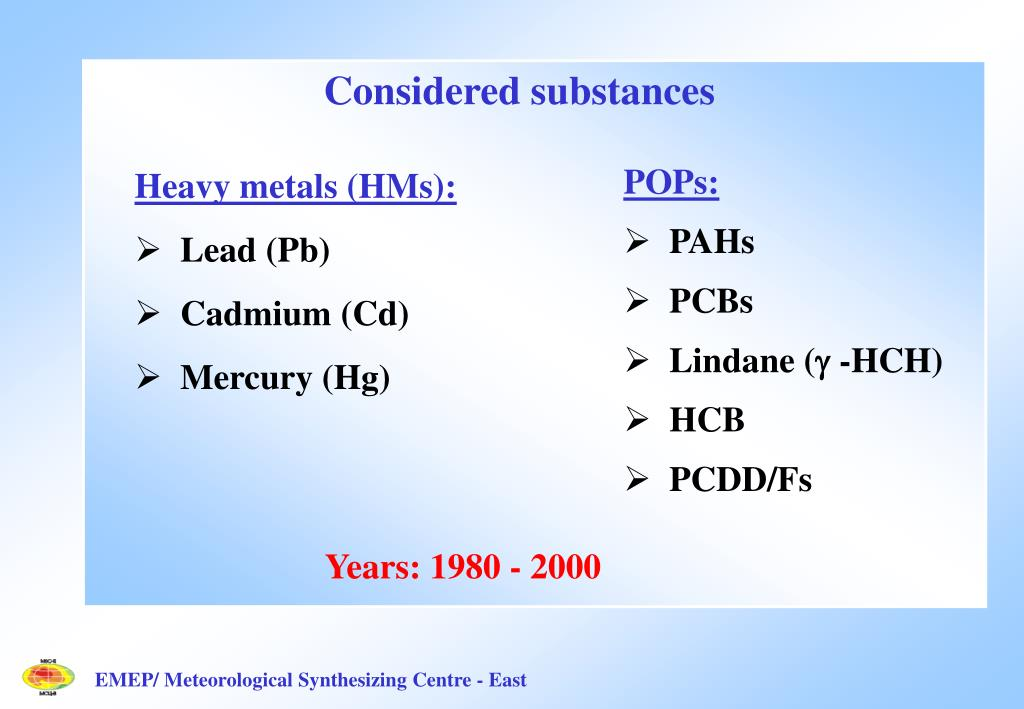 Considered substances