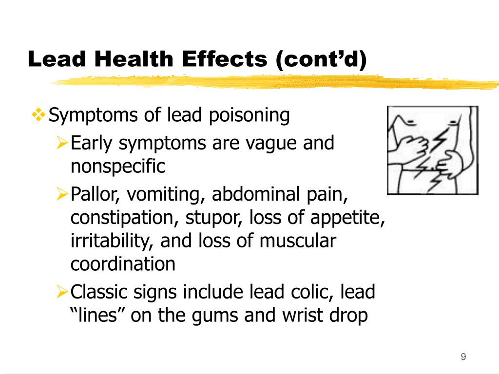 Lead Health Effects (cont'd)