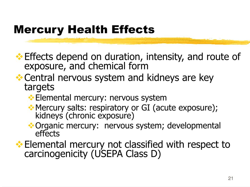 Mercury Health Effects