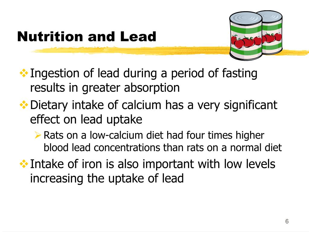 Nutrition and Lead