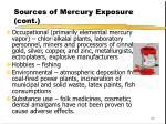 sources of mercury exposure cont