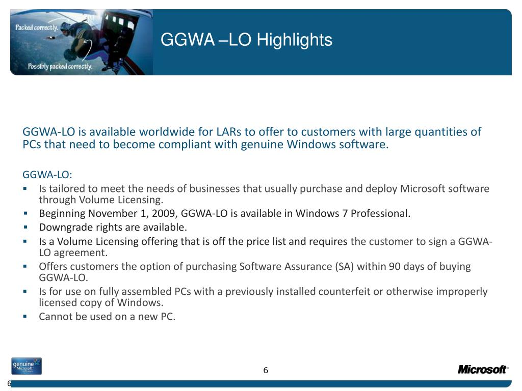 GGWA –LO Highlights