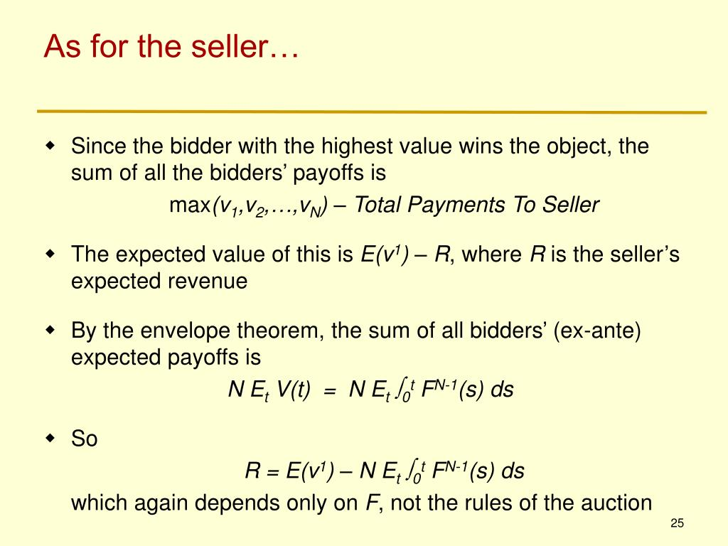 As for the seller…