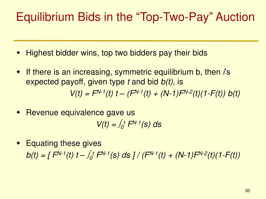 "Equilibrium Bids in the ""Top-Two-Pay"" Auction"