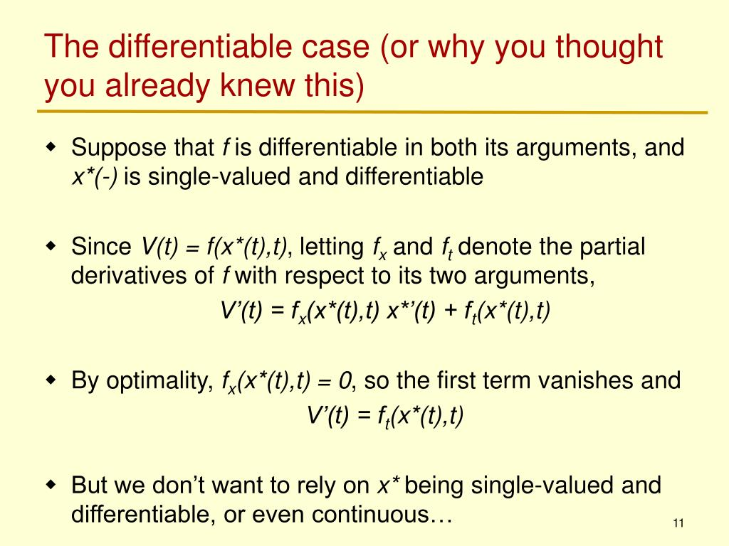 The differentiable case (or why you thought you already knew this)