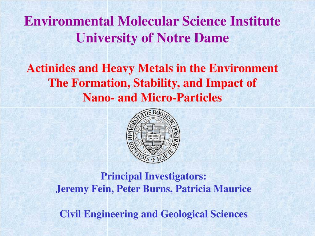 Environmental Molecular Science Institute