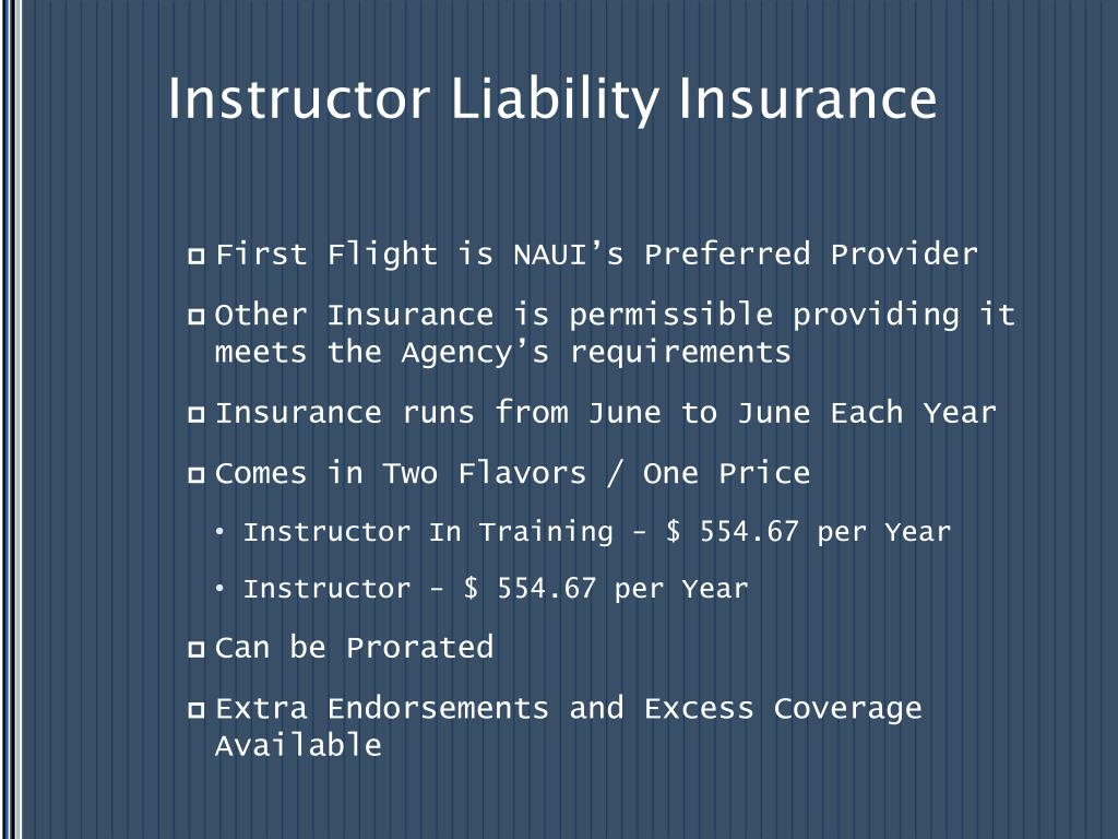 Instructor Liability Insurance