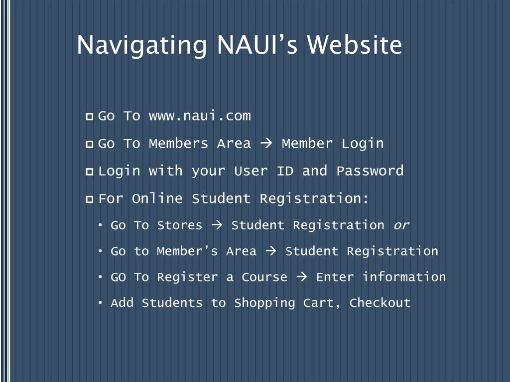 Navigating NAUI's Website
