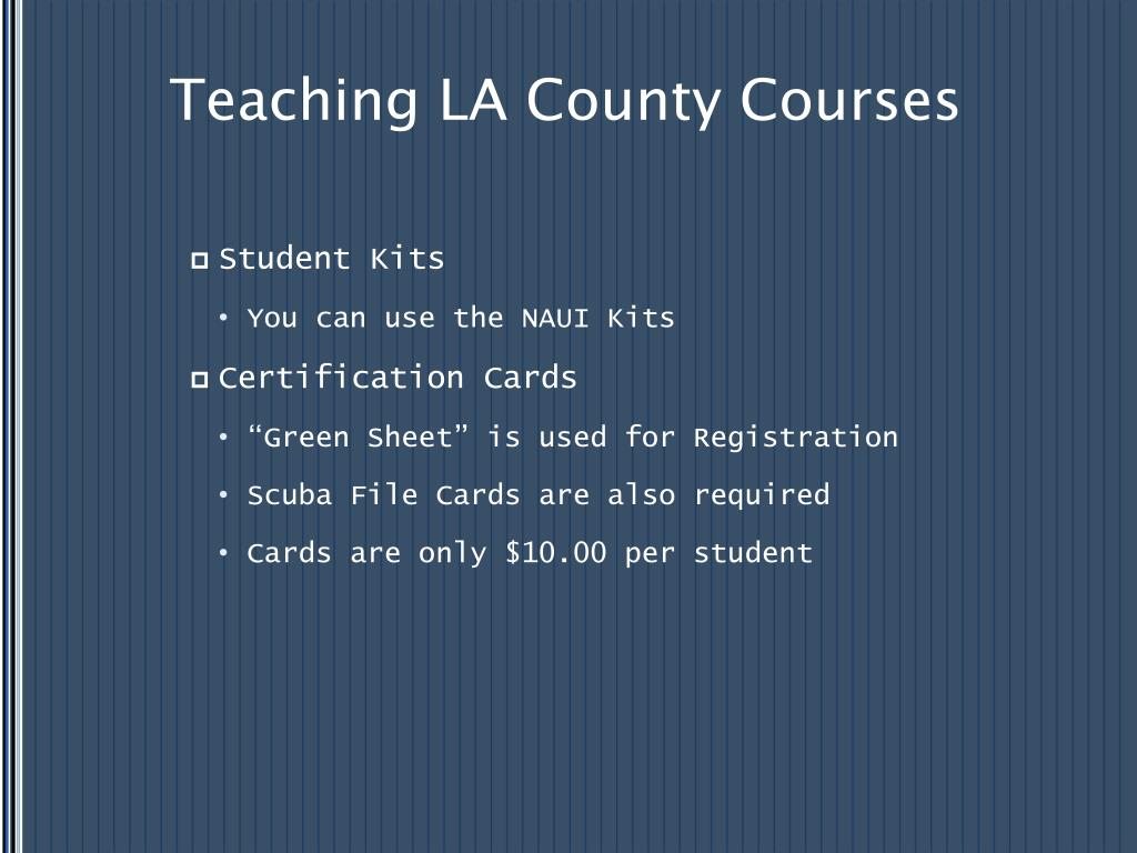Teaching LA County Courses