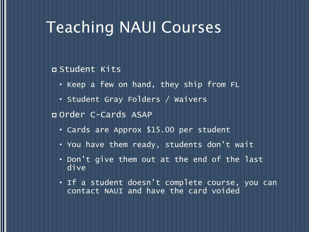 Teaching NAUI Courses
