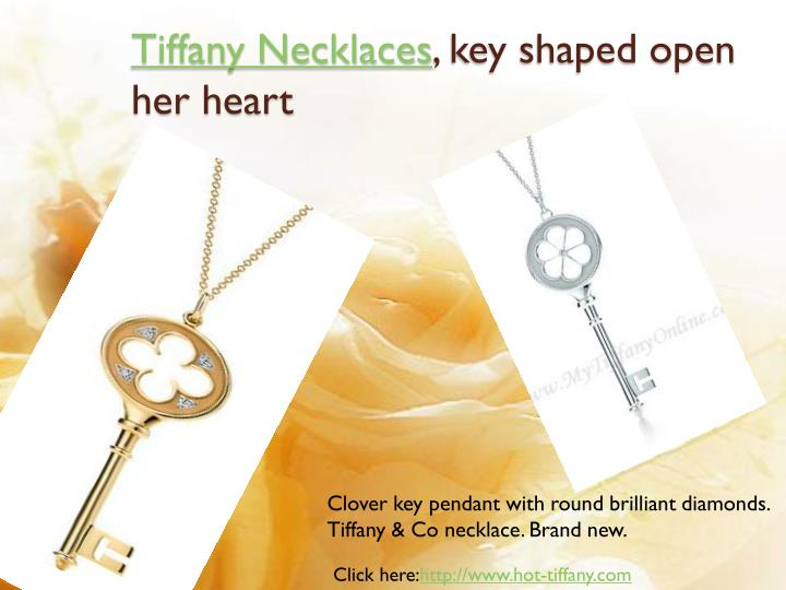 Tiffany necklaces key shaped open her heart3