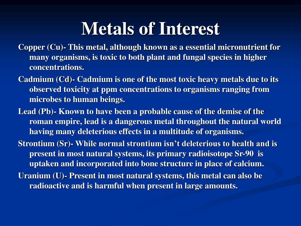 Metals of Interest