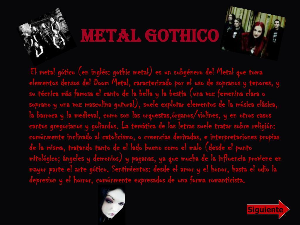 Metal Gothico