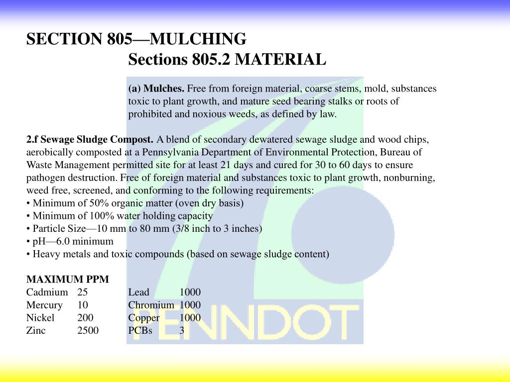 SECTION 805—MULCHING