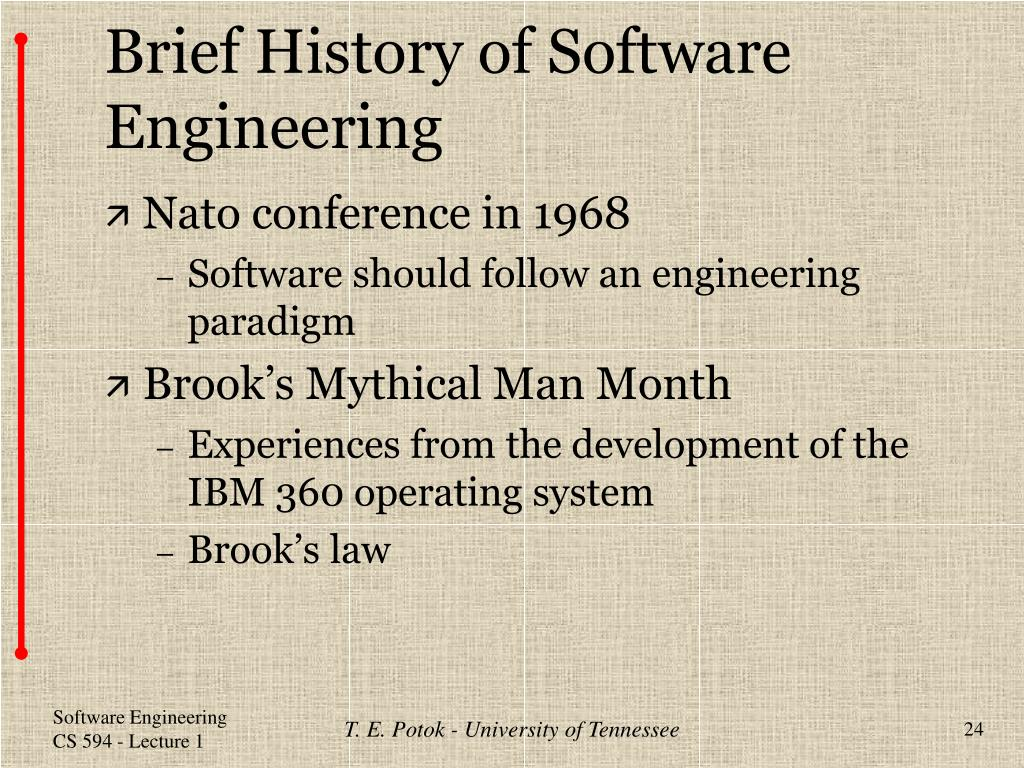 Brief History of Software Engineering