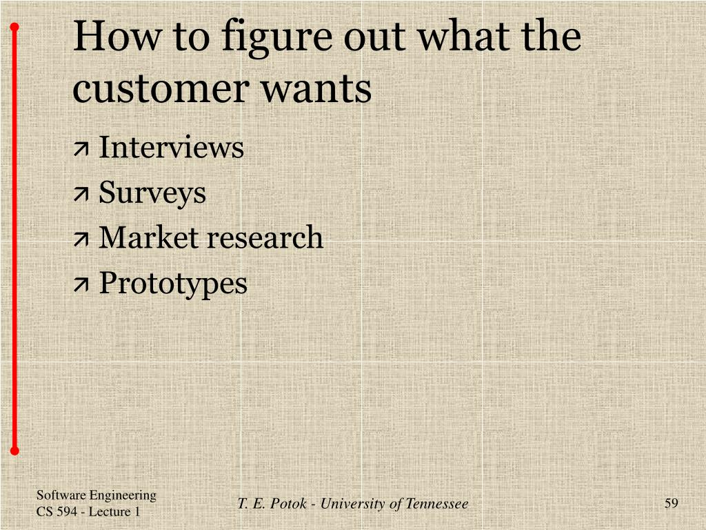 How to figure out what the customer wants