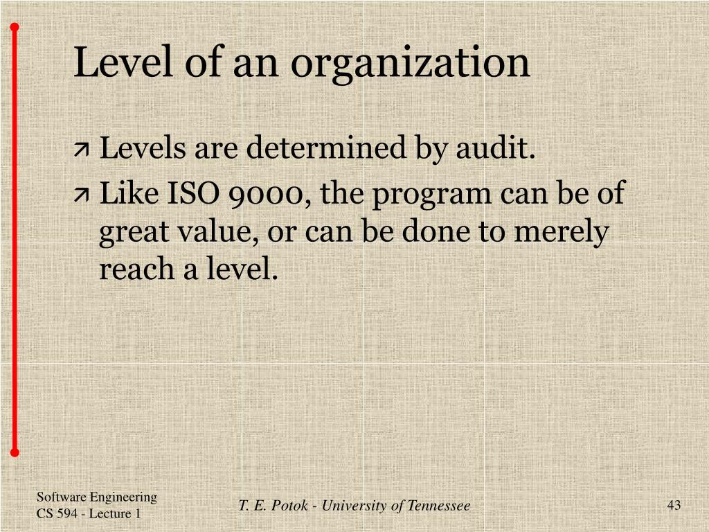 Level of an organization
