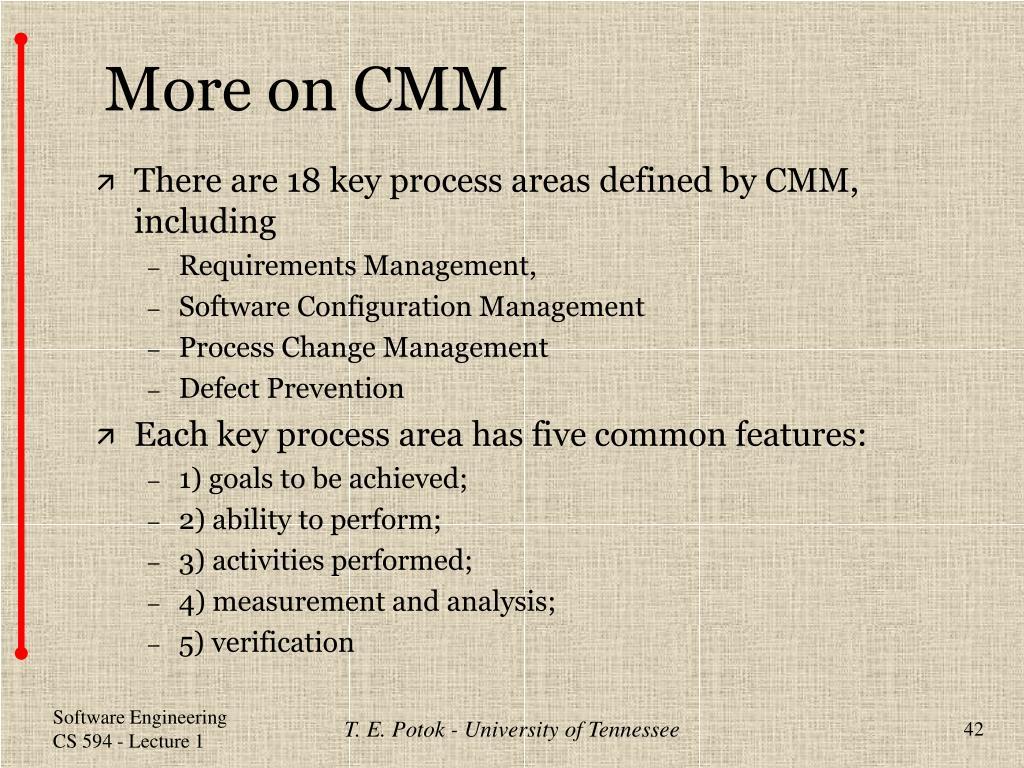 More on CMM