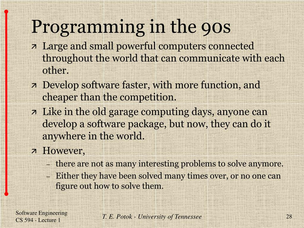 Programming in the 90s