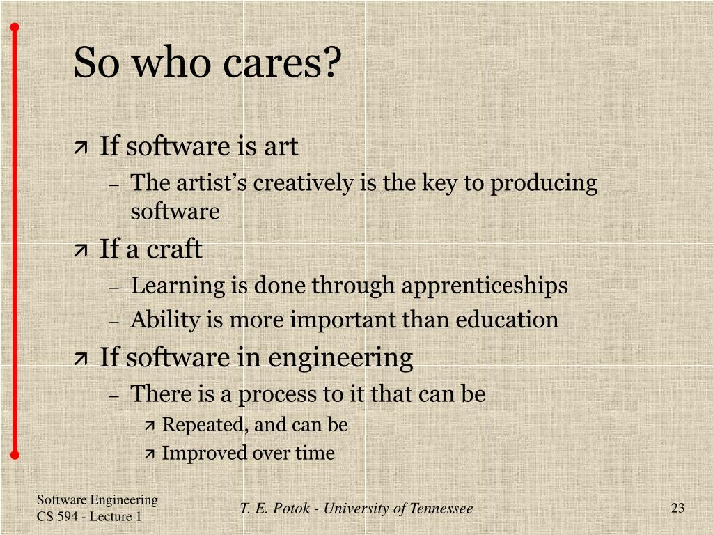 So who cares?