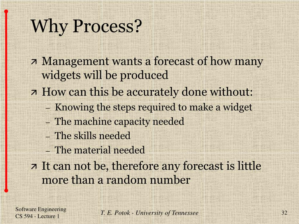 Why Process?