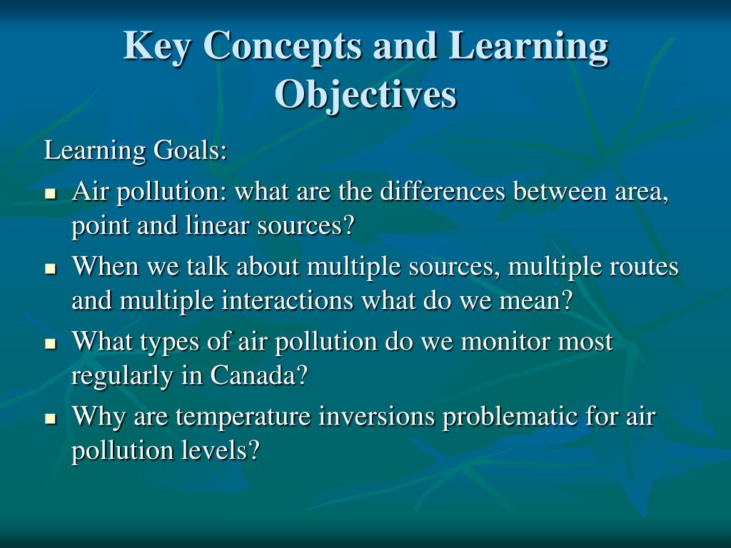 Key Concepts and Learning Objectives