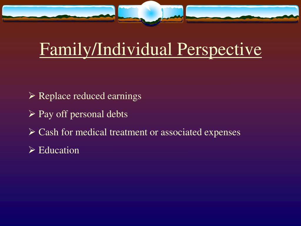 Family/Individual Perspective