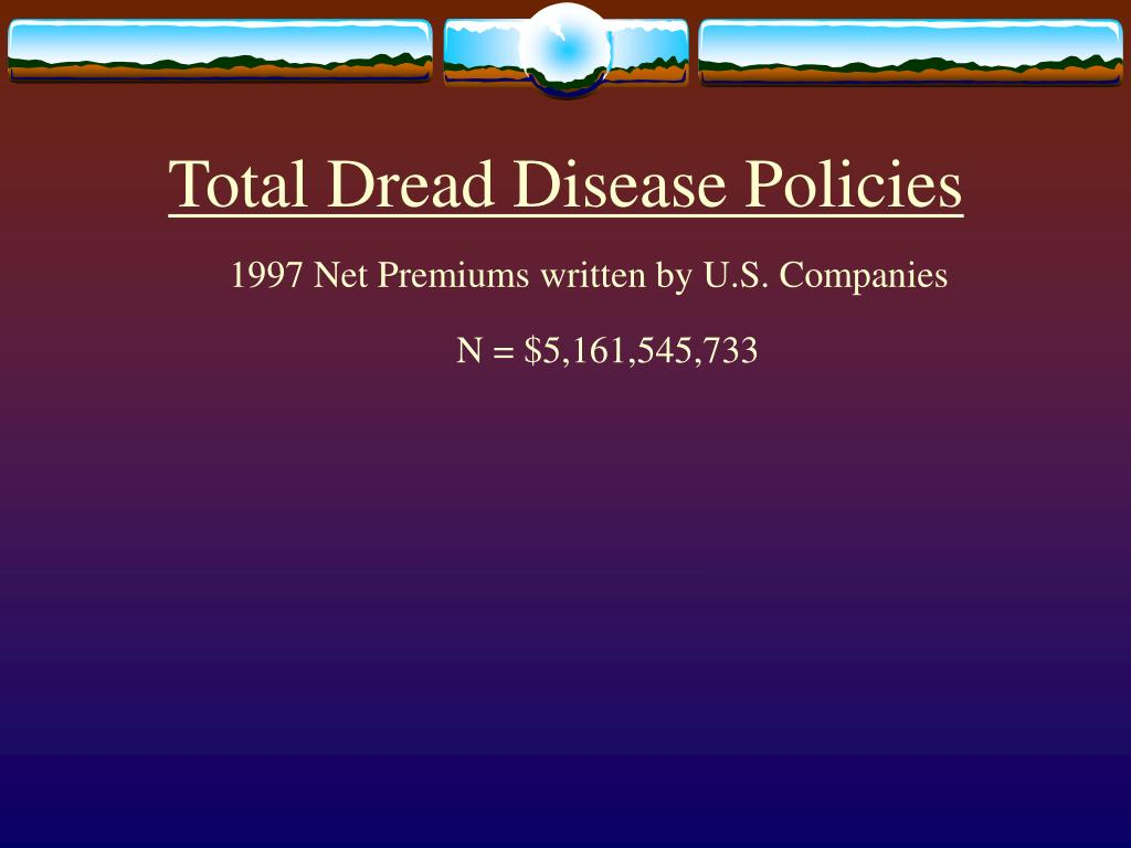 Total Dread Disease Policies