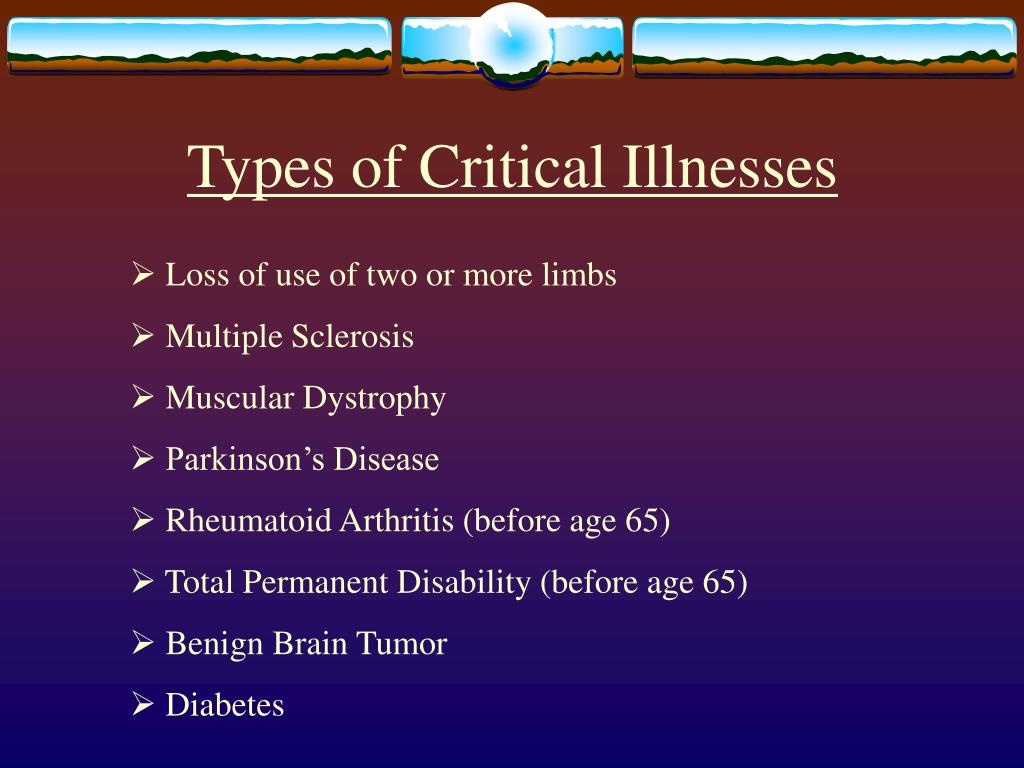 Types of Critical Illnesses
