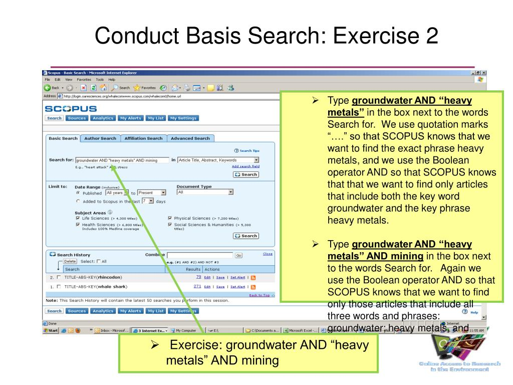 Conduct Basis Search: Exercise 2