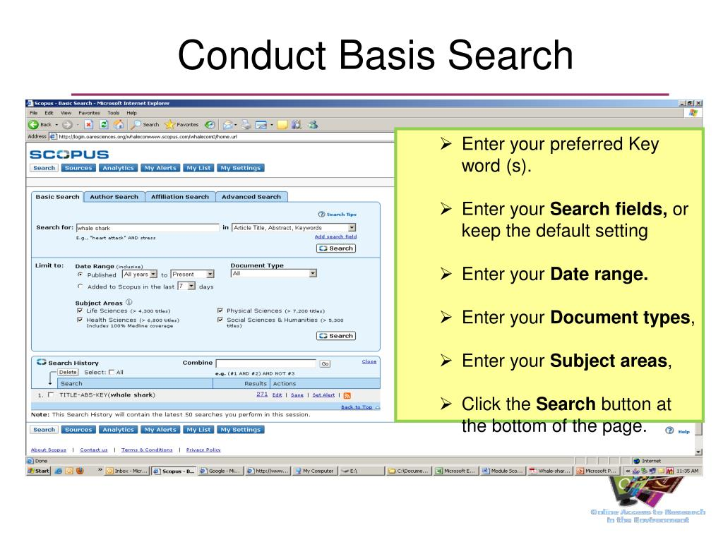Conduct Basis Search