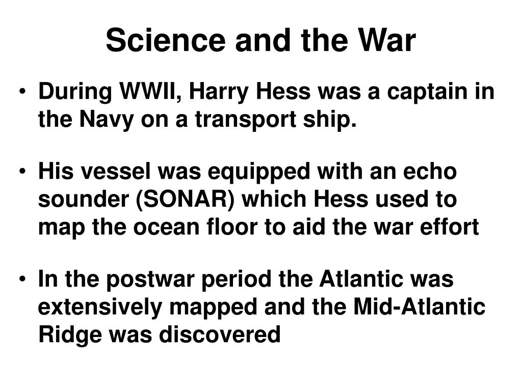Science and the War