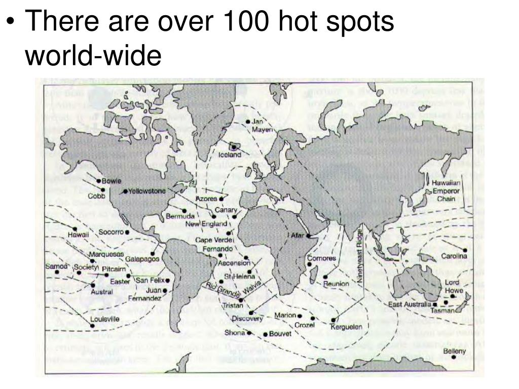 There are over 100 hot spots world-wide