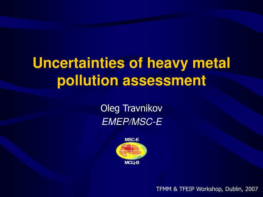 Uncertainties of heavy metal pollution assessment