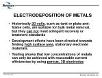 electrodeposition of metals
