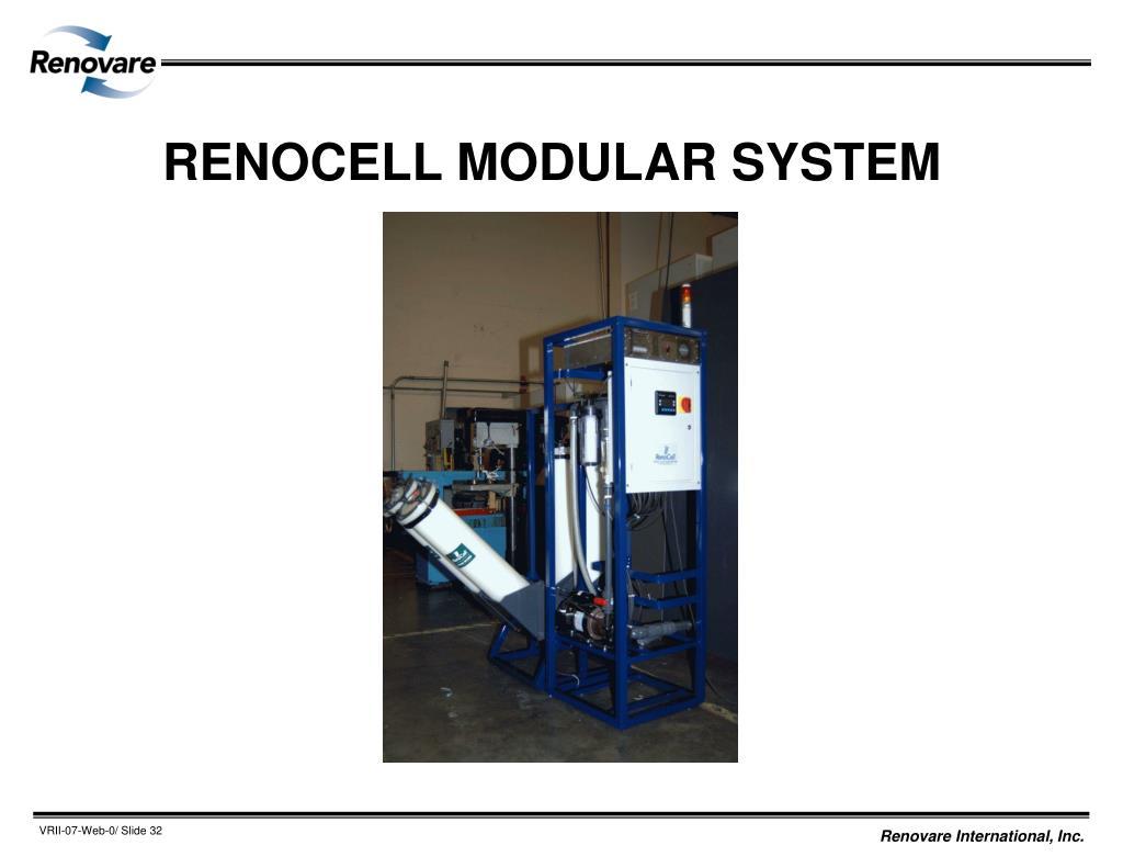 RENOCELL MODULAR SYSTEM