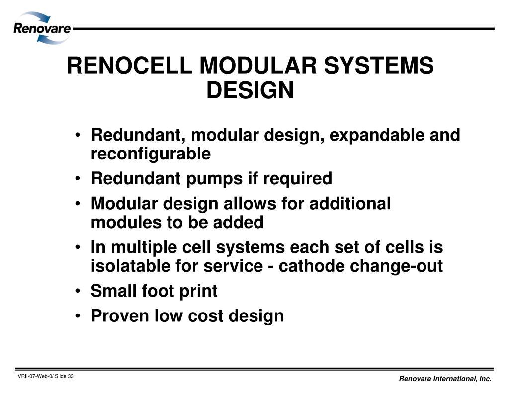RENOCELL MODULAR SYSTEMS DESIGN