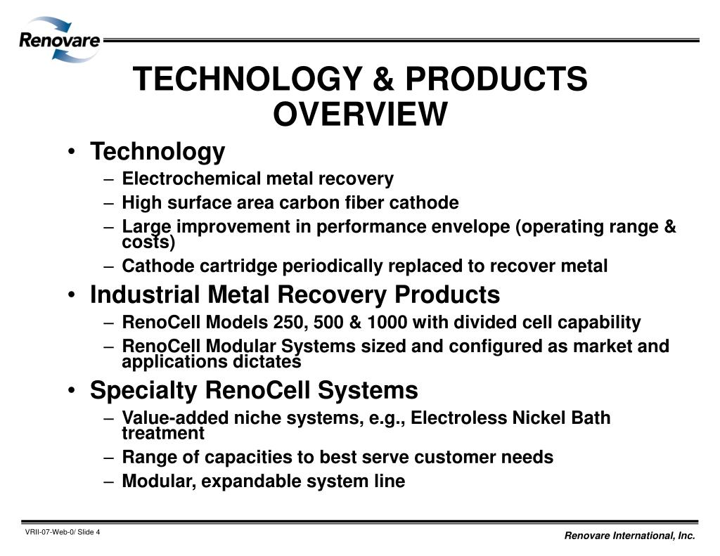 TECHNOLOGY & PRODUCTS OVERVIEW