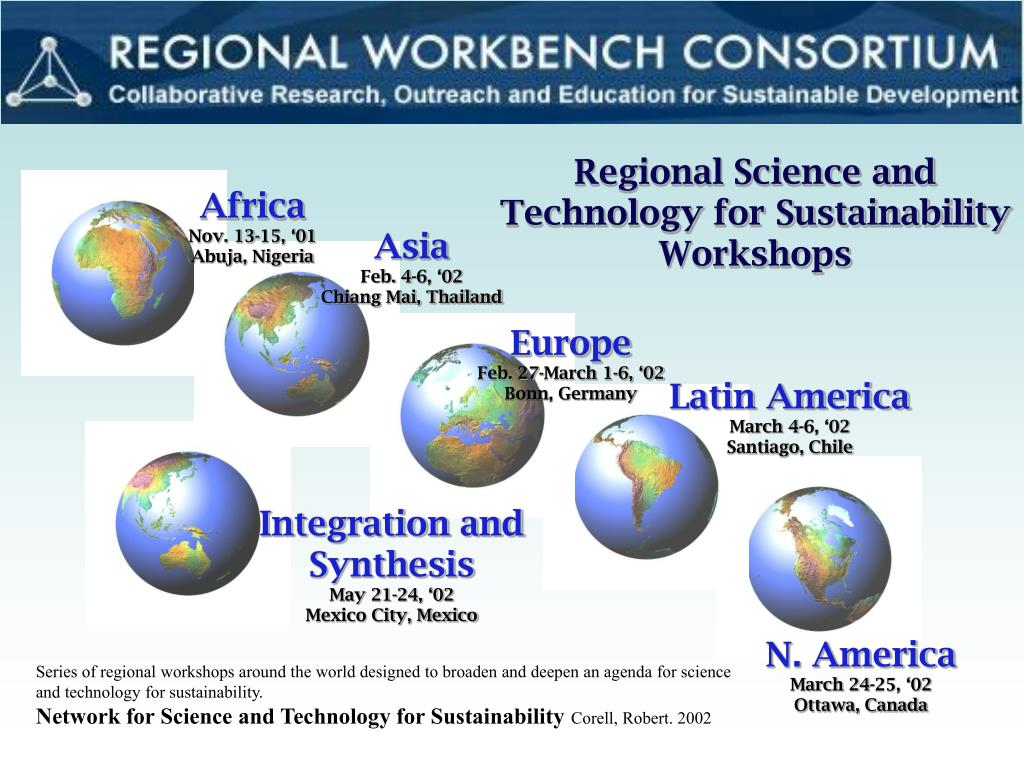 Regional Science and Technology for Sustainability Workshops