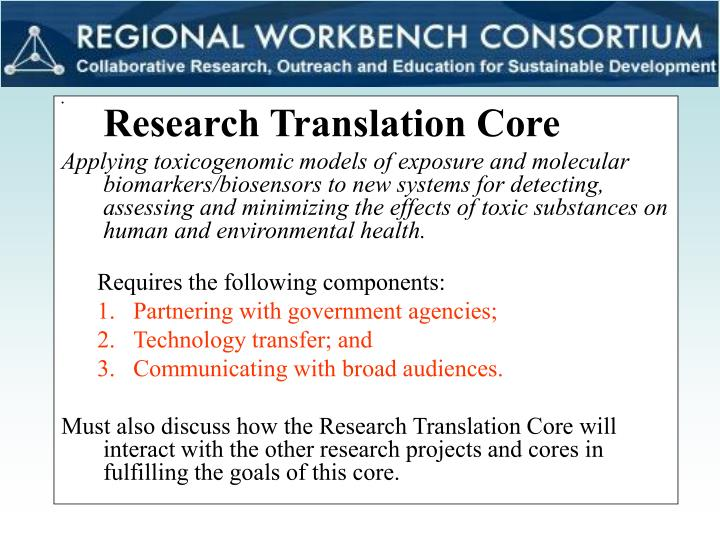 Research Translation Core